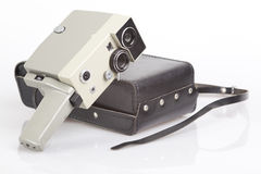 Old Movie camera. On white background Stock Photography