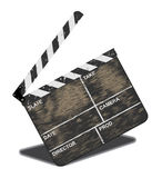 Old movie clapper. Often in use Royalty Free Stock Photos