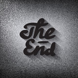 Old movie ending screen, stylised noir The End lettering Royalty Free Stock Image