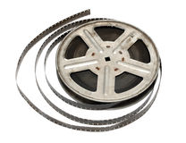 Old movie film on metal reel Stock Image