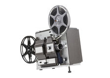 Old Movie Film Projector Isolated Stock Photo