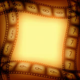 Old movie films background. Old movie films vintage background with free space inside, vector illustration for you designs on movies theme Stock Photo