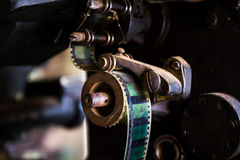 Old movie projector film Stock Photography