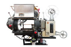 Old movie projector on isolated Royalty Free Stock Photography