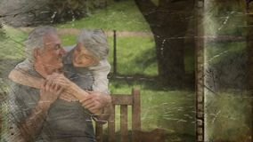 Old Movie tape video. Old Movie tape showing happy older couple stock video footage