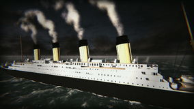 Old movie of Titanic Ship footage video