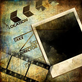 Old Movies Abstract. Artistic abstract background - movies theme royalty free illustration