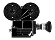 Old Movies Camera Vector Royalty Free Stock Photography