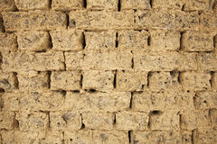 Old mud brick wall. Detail Stock Images