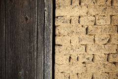 Old mud brick wall Royalty Free Stock Image