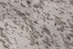 Old mud-covered concrete wall texture, background Stock Photos
