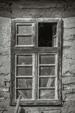 Old mud house, black and white effect Royalty Free Stock Images