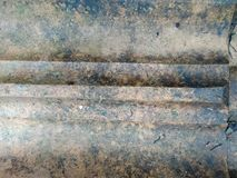 Old mud roof tiles /tiles Stock Photos