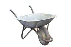 Old muddy wheelbarrow Royalty Free Stock Photo