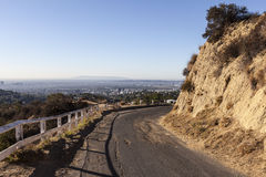 Old Mulholland Highway overlooking Hollywood, California. Stock Photography