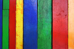 Old multicolor wood board Royalty Free Stock Photos