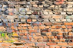 Old multicolored brick Royalty Free Stock Photo