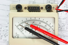 Old multimeter Stock Image