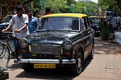 Old  Mumbai taxi Royalty Free Stock Images