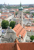 Old Munich. View from above 2 Royalty Free Stock Image
