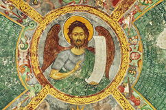 Jesus Christ - Old mural colored painting Stock Images