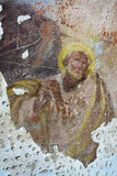 Old mural painting in the ruins of the church Stock Images