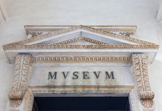Old Museum Entrance Stock Photography