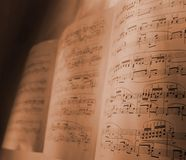 Old music background Stock Photography