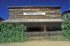 Old Music Hall in Ghost Town near Virginia City, MT Royalty Free Stock Images