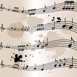 Old music note manuscript Royalty Free Stock Images