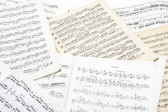Old music note sheet Stock Photography