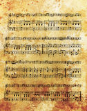 Old music note and vintage effect, musical background. Stock Image