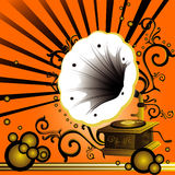 Old music player. Abstract vector composition Stock Illustration
