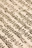 Old Music Score royalty free stock image