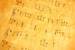 Old music sheet Royalty Free Stock Image