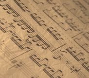 Old music sheet. Stock Images