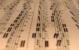 Old music sheet. Royalty Free Stock Images