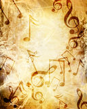 Old music sheet Stock Image