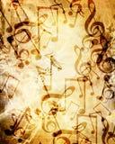 Old music sheet Royalty Free Stock Image
