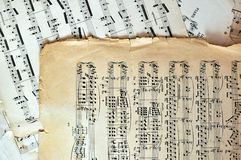 Old music sheet pages - art background Stock Photography