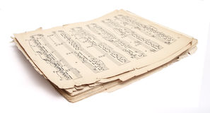 Old music sheets Royalty Free Stock Photo