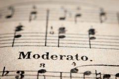 Old music writings Stock Image