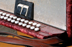 Old musical instrument Russian bayan - button accordion Stock Photography