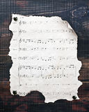 Old musical notes Royalty Free Stock Photography