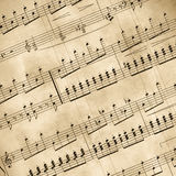 Old Musical Notes Stock Image