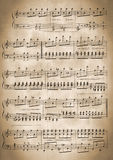 Old musical notes Royalty Free Stock Photos