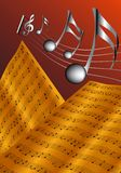 The old musical score Royalty Free Stock Photo
