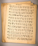 Old musical score. Old musical notation ancient Russian chant Stock Images