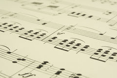 Old Musical Score Sheet Stock Photos