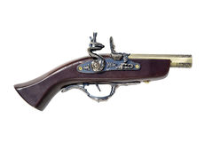Old musket gun. copy. Old musket gun. the beginning of the eighteenth century. copy of a pistol. souvenir Stock Images
